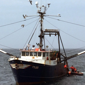 Four headed home to Gloucester, MA, after Coast Guard helps fishermen dewater, make repairs to flooding boat