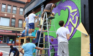 """Lynn's """"Beyond Walls"""" Murals Coming Together – Celebration This Saturday – Click Here For Photos"""