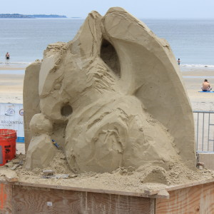 Revere Sandculpting Thursday Afternoon Update – Video & Photos – Work Continues!