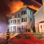 Monday Afternoon Fire Destroys 3 Story Apartment Building in Lynn – Broad Street – Photos